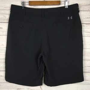 Under Armour Mens 38 Black Nylon Shorts Coaching